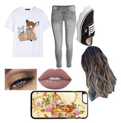 """Untitled #11"" by chloe-335 ❤ liked on Polyvore featuring Markus Lupfer, H&M, Vans and Lime Crime"