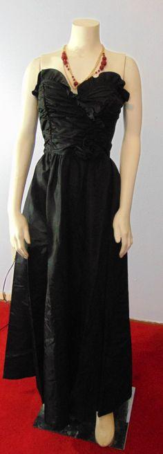 Vintage 70s Gunne Sax Black Formal Dress Prom Cruise vtg 9 XS Strapless 31 Bust by TheScarletMonkey on Etsy