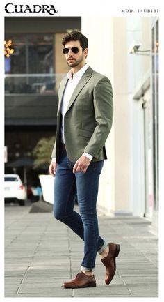 Ein Mann mit Stil Fashion outfideman is part of Trendy mens fashion - Blazer Outfits Men, Mens Fashion Blazer, Outfits Casual, Stylish Mens Outfits, Suit Fashion, Mode Outfits, Blazer Suit, Business Casual Men, Men Casual