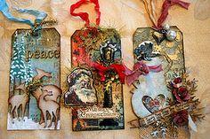 Tim inspired vintage Christmas tags