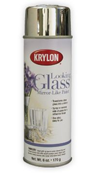 Looking Glass®- Mirror Like Paint - get the look of mercury glass with a spray-on mirror finish. Lightly spray water inside clean vases, then spray the same area with paint. Turn upside down to dry. For a heavier finish, repeat.