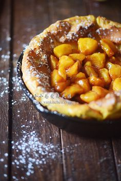 DUTCH BABY PANCAKE WITH APPLE FILLING