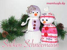 Mamiweb.de - Schneemann aus einer Socke basteln