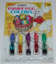We colored real eggs and that was what we hunted in the yard. Not ...