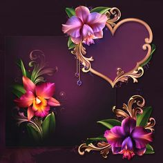 "Barnali Bagchi ~ ""Romantic Orchids"" ~ moonbeam1212."