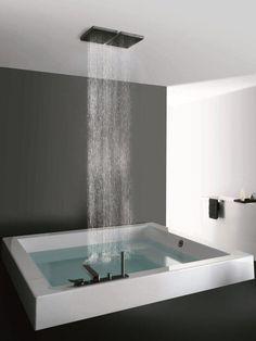Built-in square methacrylate #bathtub GRANDE QUADRA by Kos by Zucchetti | #design Ludovica+Roberto Palomba @Eva Siemienowski-Zucchetti Kos