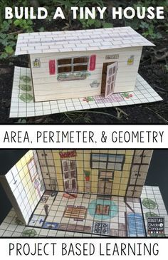 Let students learn how math concepts are connected to the real world as they design their own TINY HOUSE! Area, perimeter, and geometry-- math is everywhere in this project based learning activity (PBL). Designing, creating, and problem solving are ke Project Based Learning, Student Learning, Teaching Math, Teaching Geometry, Geometry Activities, Math Activities, Teaching Ideas, Math Teacher, Math Classroom