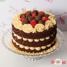 Bolo Neked Cake, Fun Cupcakes, Cupcake Cakes, Beautiful Cakes, Amazing Cakes, Bolo Nacked, Cupcake Recipes, Dessert Recipes, Fashion Cakes