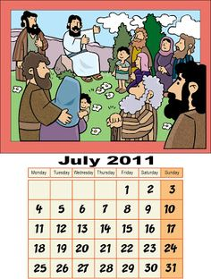 My Little House: Calendar for July 2011