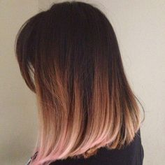Rose gold ombre! This is totally what I want.