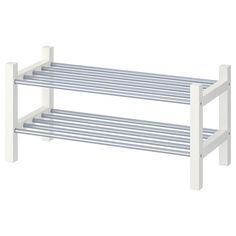 IKEA - TJUSIG, Shoe rack, white, If you need more storage space for your shoes, simply stack one sho Rack Design, Shoe Storage White, Storage Spaces, Ikea, Diy Shoe Rack, Shoe Organizer, Diy Storage, Rack, Ikea Shoe Rack