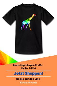 Kaufe dir jetzt dieses T-Shirt für deine Kinder. Lass dir dieses und weitere Tier-Zeichnungen auf deine Kinder-Mode drucken   Schau jetzt in unserem Shop vorbei! Klicke jetzt auf den Link! #Tshirt #Kindermode #Stile #Kinderstile #Spreadshirt #Giraffe #Rainbowanimals #Mode