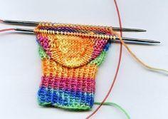 Socken stricken mit einer Rundstricknadel - Magic Loop