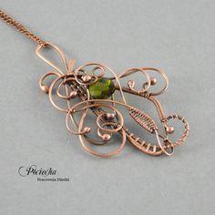 Baroque elegance - naszyjnik z wisiorem (proj. Pracownia miedzi - Pociecha), do kupienia w DecoBazaar.com