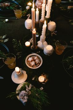 A Modern Winter Solstice Dinner Party - coco kelley coco kelley Twelve Days Of Christmas, Winter Christmas, Winter Holidays, Xmas, Yule Traditions, Winter Solstice Traditions, Altar, Pagan Yule, Summer Solstice