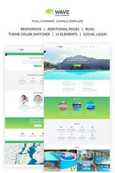 A personal swimming pool, designed according to your needs is a luxury, so a company that creates swimming pools has to have a good looking and stylish website. Wave Joomla template is just what you were looking for. #joomla #swimming #service https://www.templatemonster.com/joomla-templates/wave-fancy-swimming-pool-engineering-company-joomla-template-67795.html
