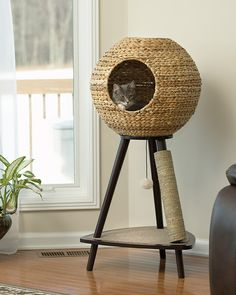 Pet Home Natural Wicker Sphere Cat Tower – Sauder - Sauder Woodworking