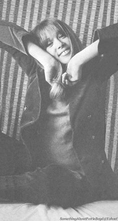 ♥♥Pattie Boyd-Harrison♥♥  From Something About Pattie Boyd at Yahoo!This photo of Pattie is included in Henry Grossman's book, Places I Remember: My Time With the Beatles,in full frame -full page size. Pattie was posing in her tiny room at the Hotel Edelweiss in Obertauern, Austria in March 1965.