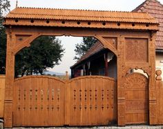 Portal, Farm Entrance, Main Gate, Wooden Gates, Wood Carving Art, Fence Gate, Woodworking Jigs, Rodeo, Hungary