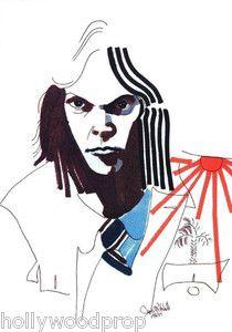 Neil Young Painting Portrait by Joni Mitchell Artwork Art Print Poster Reprint   eBay