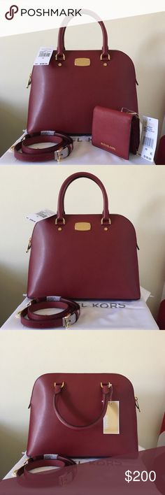 b381408b6c Cherry red with gold detailing. Great for the coming season. Measurement:  inch Dust bag is included. Makes a wonderful gift. Michael Kors ...