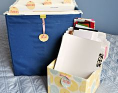 IHeart Organizing: UHeart Organizing: Scraptastic Paper Storage