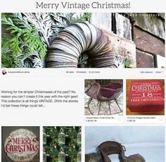Merry Vintage Christmas, an inspiring collection by Funky Junk Interiors, on ebay.com