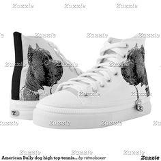 American Bully dog high top tennis shoes  #american #bully #bullies #shoes #dog #pet #dogs #doglover #fas hion #tennis #shoe #shoes #pitbull #pitbulls