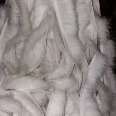 BY ORDER, Rabbit Fur Trimming, Supply for Sewing, Rabbit Fur Stripes, Rabbit Fur Trim, Furry Strips, Rabbit Fur, Fur Edging Trim for Garment
