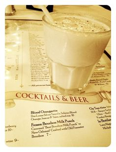 The actual Frozen Bourbon Milk Punch recipe, direct from Bourbon House in New Orleans! My favorite drink, and they posted their recipe online. You can tell from my pic... it's as amazing as it looks - and stronger than it seems!   4C Milk 1C Bourbon ¼C Vanilla Extract ¼C Simple Syrup 1pt Vanilla Ice Cream Dash of Nutmeg per serving  Combine all ingredients & blend for eight seconds. Garnish with nutmeg. Yields 1½ Quarts.