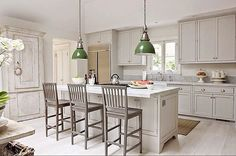 "Ok, part two! Hopefully you aren't tired of seeing our kitchen. Thanks for your questions on my previous post. Here are answers -Carrara marble countertops, honed, 2"" thick -Rohl faucet -Pulls and knobs Home Depot (yes!) -Wall color classic gray BM -Gray cabinet paint available from cabinet maker Tedd Wood  Happy weekend! #kitchenremodel #kitchenrenovation #kitchens"