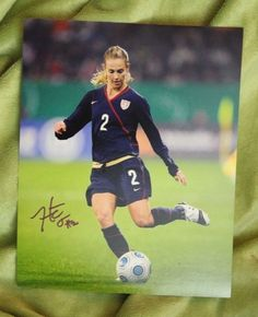 Heather Mitts autographed soccer action shot 8x10 photo- unframed
