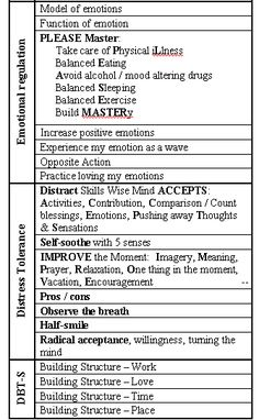 DBT. Pocket Diary Card - I have this in my wallet so that I see it often and always have it close by no matter where I am. #BPD #Bpd Recovery