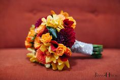 Vibrant Autumn Wedding Flowers @Bali Ha'i,San Diego -Janna Hatch Floral Design