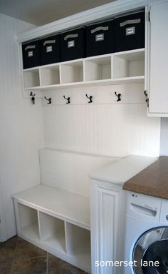 Turning a under-used laundry room into a organized Mudroom/laundry room!