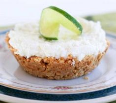 Recipe For  No-Bake Margarita Pie - Sometimes you don't want to go out or have a big party to celebrate your birthday. You just want a quiet night at home and indulge in your own mini birthday dessert.     This Mini Margarita Pie is just the answer. It's an easy, no-bake dessert with an adult-twist, and it's the perfect way to have a mini-celebration at home!
