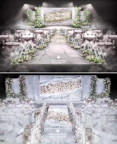 还原完美 Wedding Backdrop Design, Wedding Stage Decorations, Backdrop Decorations, Backdrops, Wedding Drawing, Wedding Gifts For Guests, Wedding Preparation, Wedding Places, Walkway