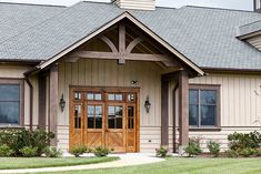 Architecture to a timber frame entrance