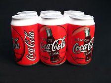 Salt & Pepper Shakers - Coca Cola BOTTLE 6-Pack Ceramic Enesco UNIQUE Retired