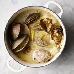 The clams give up all their essence in this rich coconut-based stock. It's great for curries, or use it as the liquid base for a pot of steamed mussels or littleneck clams.