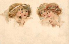 Старинные открытки с ангелочками. Обсуждение на LiveInternet - Российский Сервис Онлайн-Дневников