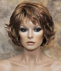 Everyday wig Multiple layers Classy N chic Red Blonde Auburn mix flip ends lo