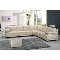 Reset - Modern White Leather Sectional Sofa - Sectional Sofas - Living Room