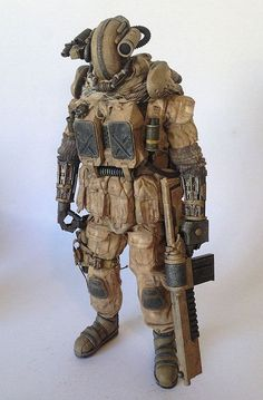 """From KidAkira comes his latest 12"""" work: """"PMMC 27"""" (""""Private Military Mech Contractor"""")"""