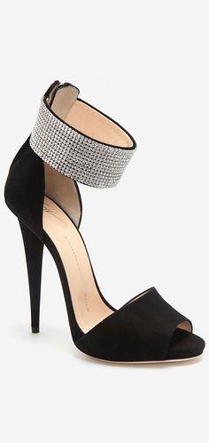 Giuseppe Zanotti Crystal Ankle Wrap Sandals
