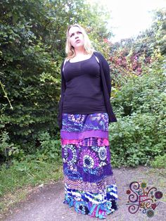 (1) Sew Fae (@SewFae) | Twitter  purple, maxi skirt, patchwork, long, full length skirts, upcycled, handmade, patterned, hippie, hippy, boho, bohemian, tie dyed, floral, paisley, pink, blue, women, ladies, clothing, clothes