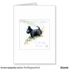 Scottie sympathy card