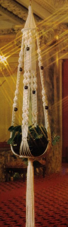 VINtAGE 1970s MaCRAME HaNGING POt PlanT by Crafting4Ever2013, $1.50