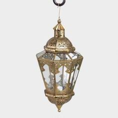 Antique Brass Indian Hanging Lantern $40
