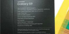 Samsung Galaxy S9 retail box leaked; Wireless charging, super speed technology   New Delhi, Jan 13: Samsung Galaxy S9 and Galaxy S9+ smartphones were scheduled to be launched at Mobile World Congress in Barcelona in late February. But before the date, a retail box of Samsung Galaxy S9 has been...